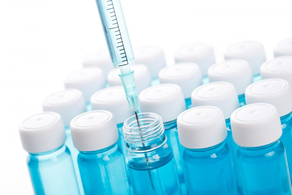 Vial with vaccine needs to be stored in lab refrigerator