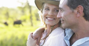 A happy and healthy couple enjoying the benefits of glutathione IV
