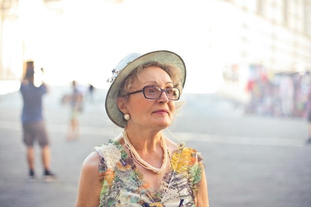 Older woman going through menopause