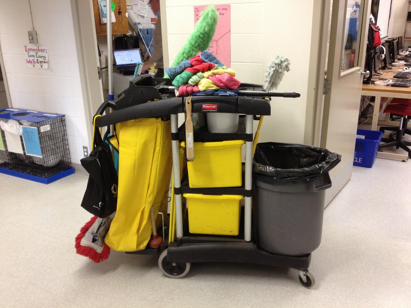 Janitorial service equipment