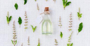 A bottle of terpenes oil