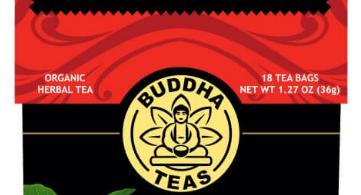 Organic, USDA Approved, Ashwagandha herbal tea in a red box