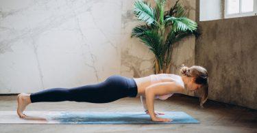 a woman doing bodyweight strength training