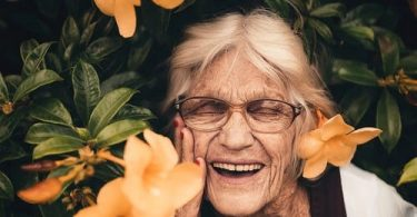 Happy, old woman
