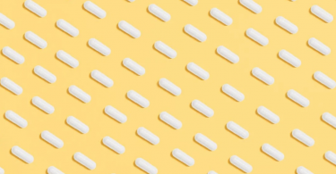 Pills with a yellow background