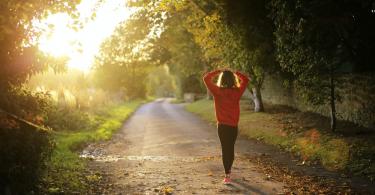 Girl going for morning jog