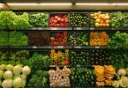 Organic vegetables at a grocery store