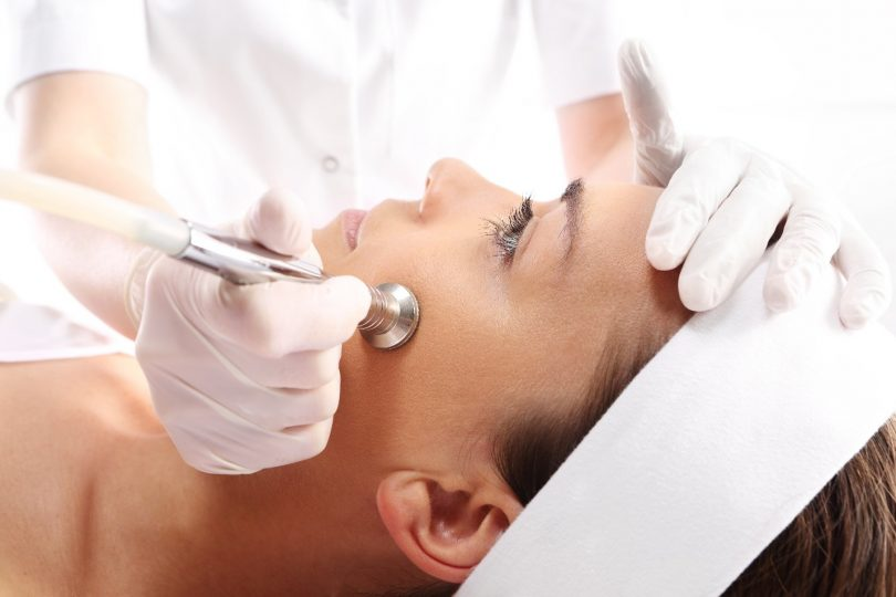 a woman getting microdermabrasion in Palm Desert