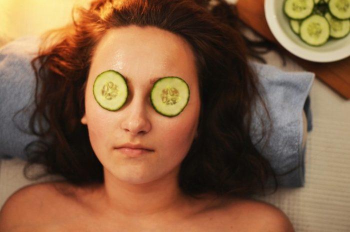 woman-before-LED-facial-treatment-Palm-Desert