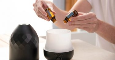 Putting terpene in a scent diffuser for stress relief