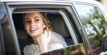Bride smiling on her big day